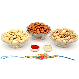 Dry Fruits with Rakhi